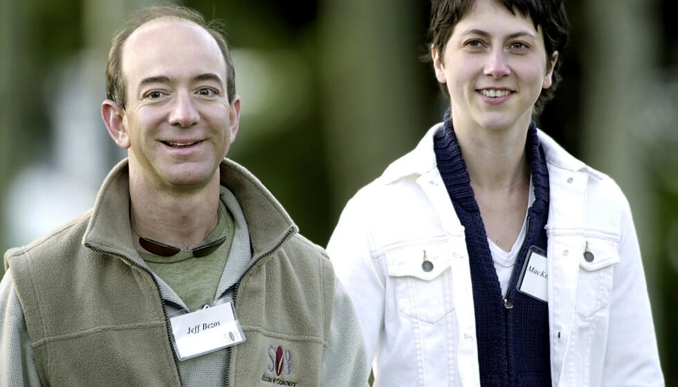 <strong>2003:</strong> Det tidligere ekteparet har fire barn sammen. Da skilsmissen ble kunngjort, skrev Jeff Bezos i en uttalelse at de ville fortsette sine delte liv som venner og at de følte seg heldige som hadde funnet hverandre. Foto: AP/Douglas C. Pizac