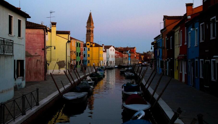 STILLE: Vanligvis travle Venezia opplever totalsvikt i turismen. Det gjør også resten av Italia. Foto: Tiziana Fabi / AFP / NTB Scanpix