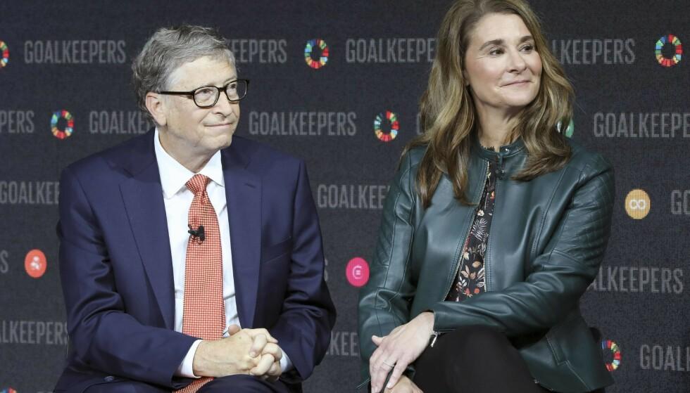 EKTEPAR: Bill og Melinda Gates avbildet i 2018. Paret giftet seg i 1994. Foto: Ludovic MARIN / AFP)