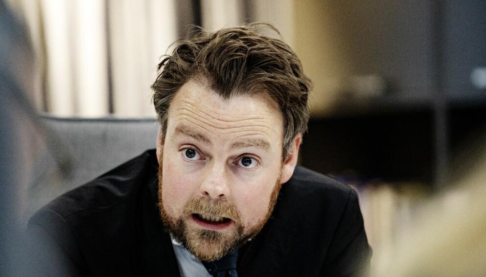 GRIPER INN: Torbjørn Røe Isaksen (H) arbeids- og sosialminister stanser Oslo-streiken med tvungen lønnsnemnd. Foto: Nina Hansen / DAGBLADET