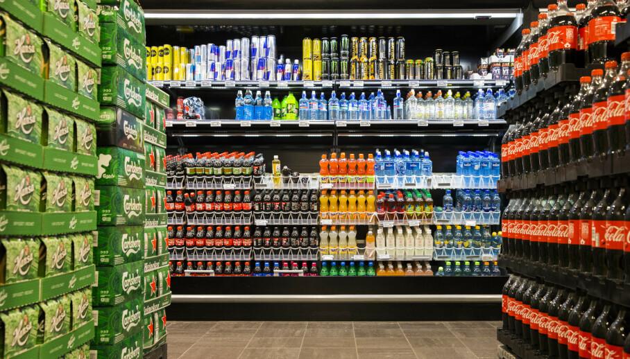 TØMMES: En øl- og brusstreik fra lørdag vil gi tomme butikkhyller i løpet av noen dager. Foto: NTB