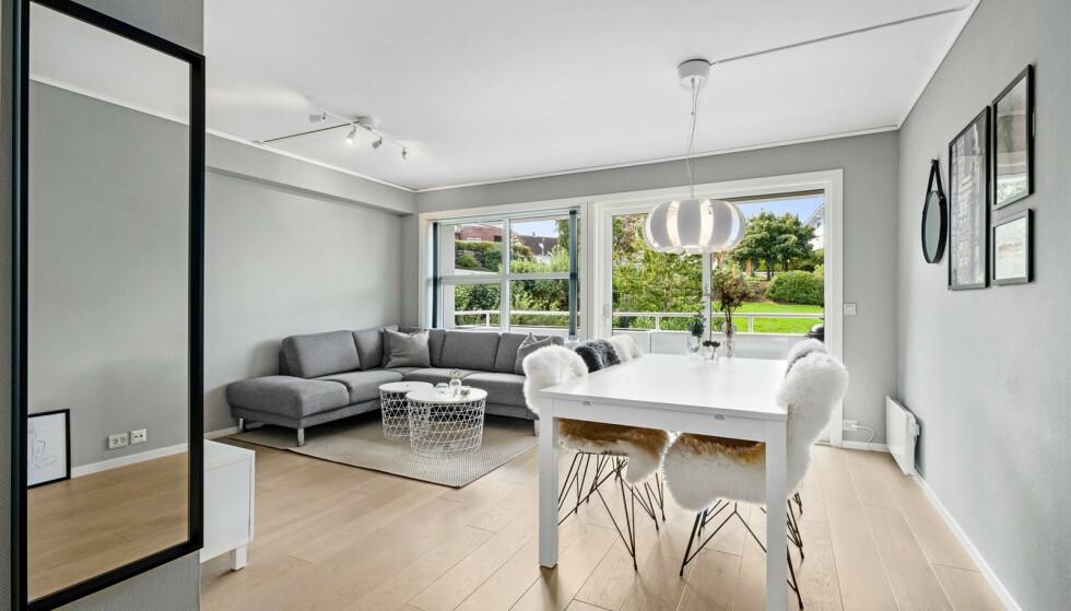 FRISTER MED «LIKES»: Oppdragsansvarlig eiendomsmegler for denne boligen i Stavanger har tatt et markedsføringsgrep som raskt ble plukket opp på sosiale medier. Foto: Inviso / Hanne Tollsehaug