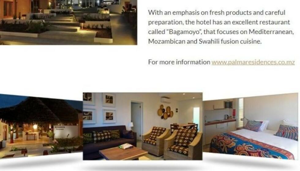 <strong>«UTMERKET RESTAURANT»:</strong> Leilighetshotellet Palma Residences har en «utmerket restaurant». Illustrasjon: Palmalodge.com