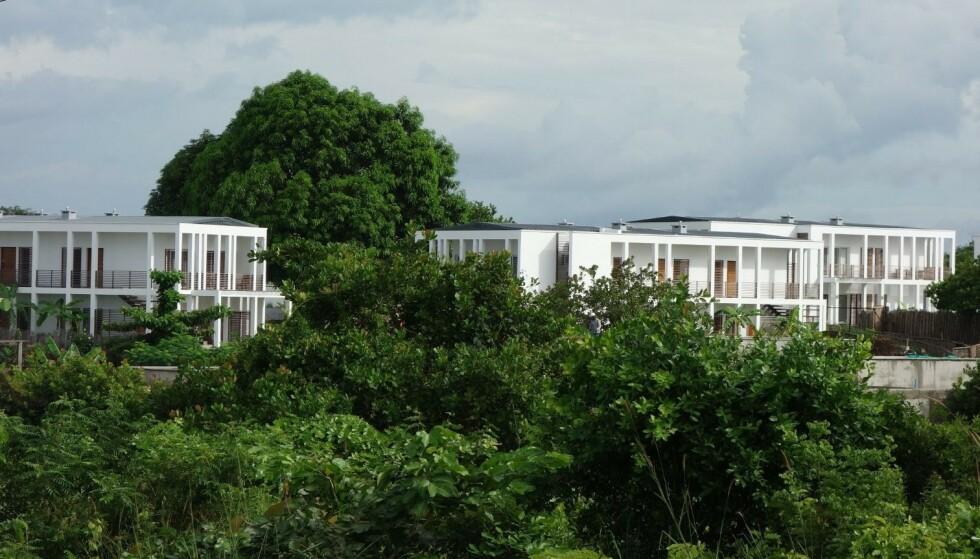 TRYGG, KOMFORTABEL OASE: «Palma Residences er en oase av komfort og sikkerhet i denne fjerntliggende delen av det nordlige Mosambik, episenter for gassindustrien», heter det i egenreklamen for et prosjekt statlige Norfund har skutt inn 33 millioner kroner i. Illustrasjon: africancentury / Tripadvisor