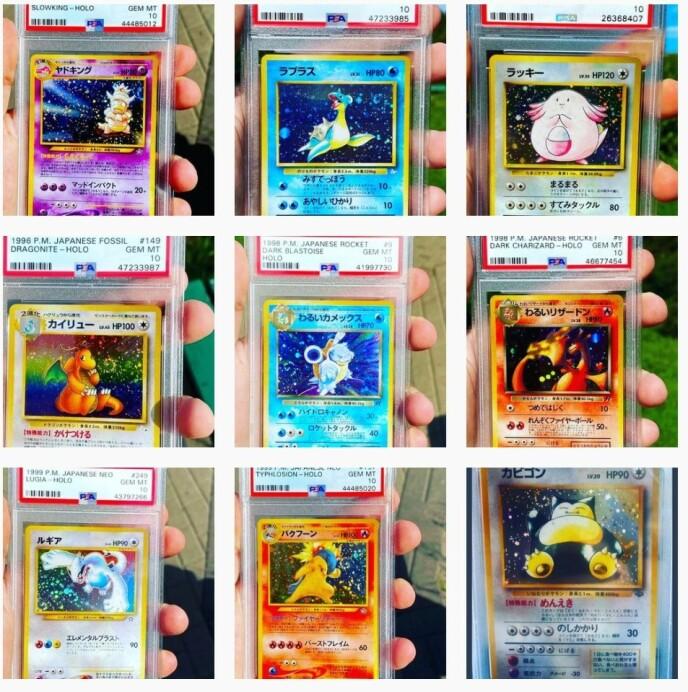 POKÉMON-FEBER: Alexander Golten (28) er blant dem som har fått øynene opp for gamle Pokémon-kort. Det kan resultere i klirrende mynt i kassa. Foto: Alexander Golten / pokemon_gemmint