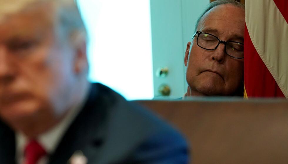 UENIGHET: Tomas Philipson forteller at han i diskusjoner ikke alltid kom like godt overrens med Larry Kudlow (bildet). Foto: Reuters / Kevin Lamarque