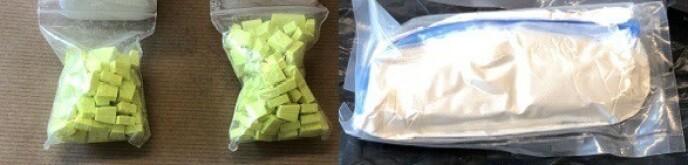 NARKO-TATT: Personen ble tatt med MDMA-tabletter og amfetamin. Foto: Politiet