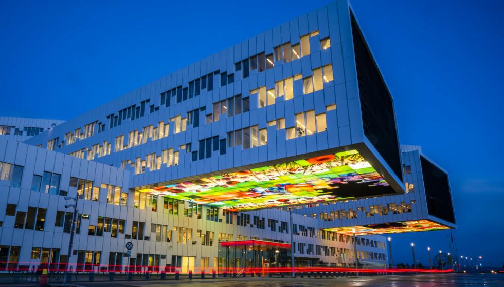 SVARTELISTET: Equinor, her representert ved hovedkvarteret på Fornebu, ble «svartelistet» i Singapore i sommer. Foto: Håkon Mosvold Larsen / NTB