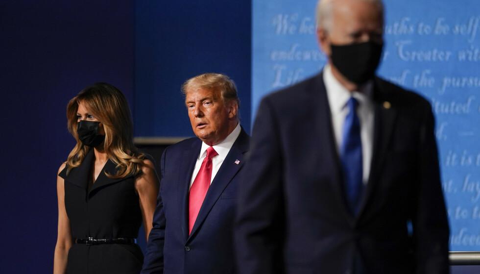 USA-VALGET: Joe Biden har så langt vist Donald Trump ryggen på meningsmålingene før valget, men en Biden-seier kan gi en vanskelig politisk situasjon i USA, om demokratene ikke vinner Senatet. Foto: AP Photo / Julio Cortez / NTB