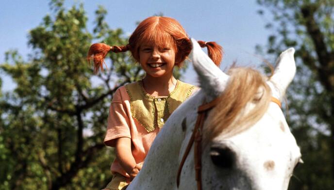 POPULÆR PARK: Astrid Lindgrens verden i Småland i Sverige er en populær destinasjon for barnefamilier. Her kan man blant annet møte karakteren Pippi. Her fra filmatiseringen av de populære barnebøkene. Foto: AFP / Pressens Bild