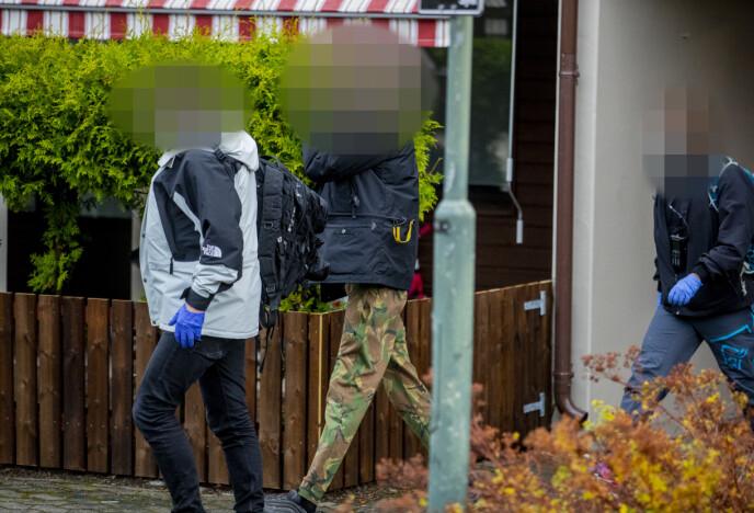 ARRESTERT: Totalt ble fire personer pågrepet og arrestert. Foto: Bjørn Langsem / Dagbladet