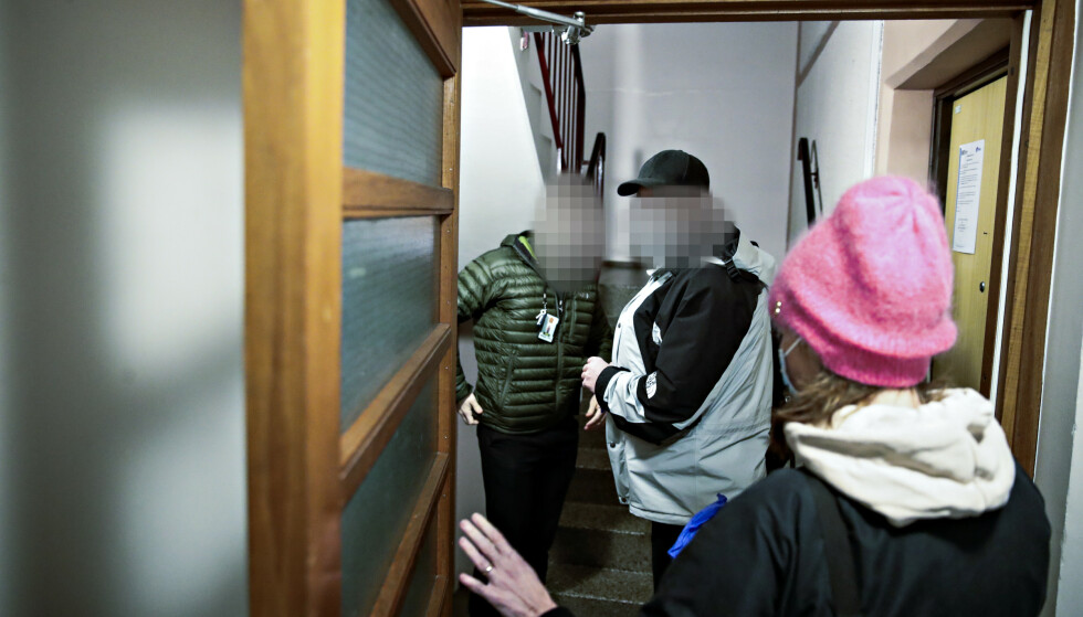 CORONAJUKS-RAZZIA: Økokrim slo til mot en rekke privatadresser i Oslo-området. Foto: Bjørn Langsem