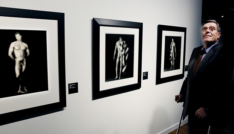 KUNSTINTERESSERT: Stein Erik Hagen stilte ut sine erotiske Robert Mapplethorpe-bilder på Munch Museet i Oslo i 2016. Foto: Jacques Hvistendahl