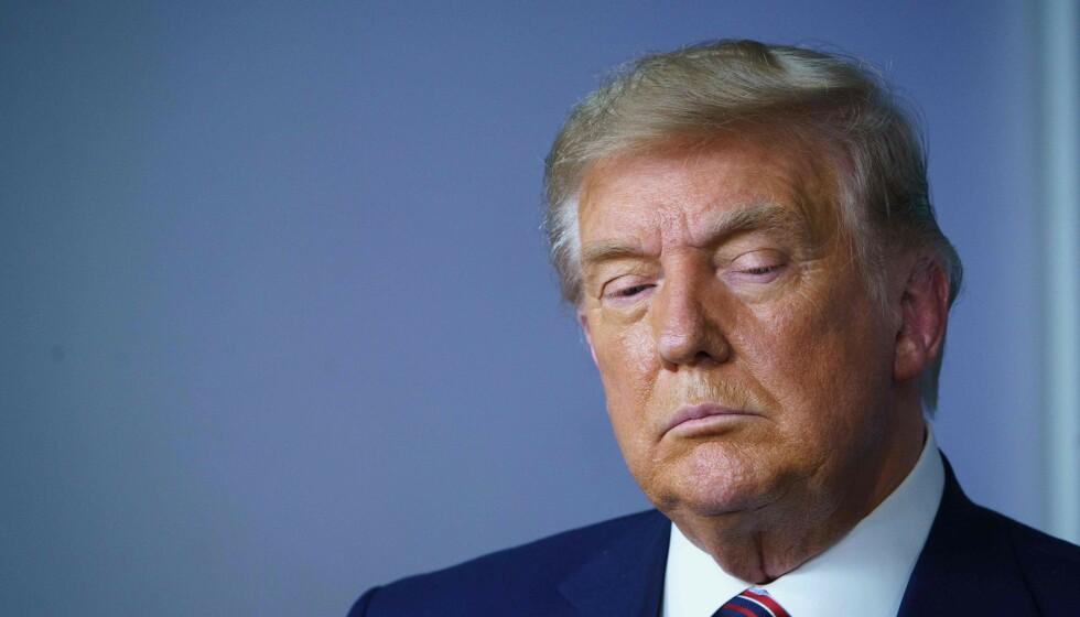 BØRSOPPGANG: Donald Trump er noe motvillig i ferd med å vedkjenne at han må flytte ut av Det hvite hus og overlate makten til valgvinner Joe Biden. Det reagerer finansmarkedene positivt på. Foto: MANDEL NGAN / AFP / NTB