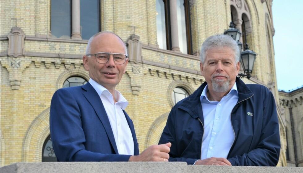 TILLITSVALGT TREKKER SEG: leder Kjell Ingebrigtsen og generalsekretær Otto Gregussen i Norges Fiskarlag. Foto: Norges Fiskarlag