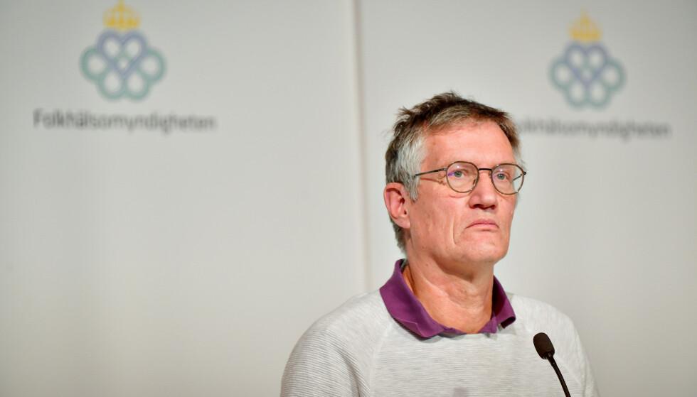 FEILET: Statsepidemolog Anders Tegnell har styrt coronahåndteringen til svenskene. Foto: Jonas Ekstromer / TT / NTB