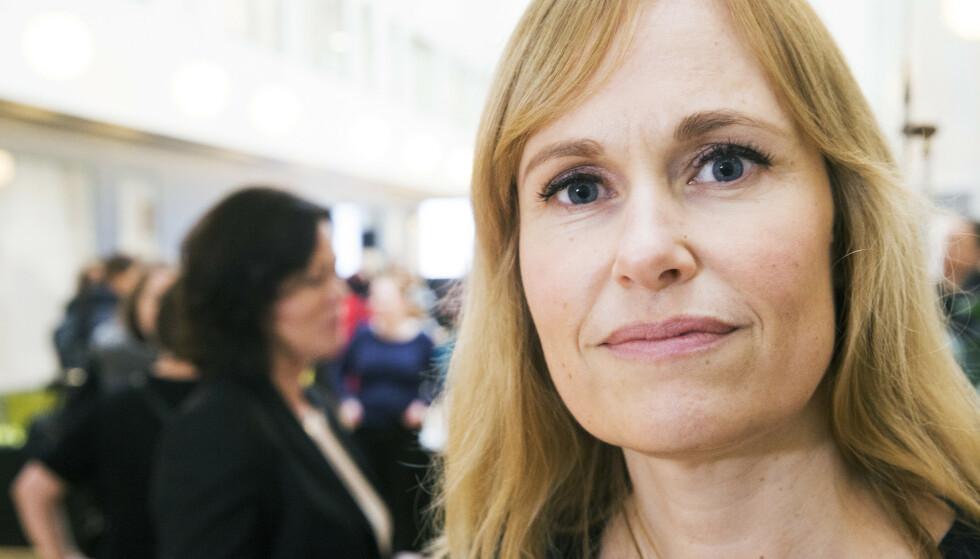 GLAD FOR FRP: - Jeg er veldig glad for det Fremskrittspartiet gjør i forhandlingene nå, sier adm. direktør Anne Lindboe i Private Barnehagers Landsforbund (PBL). Foto: Terje Bendiksby/NTB Scanpix