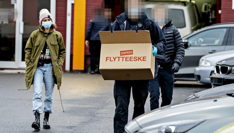 AKSJONERTE: Økokrim aksjonerte i november mot bilverkstedet, som allerede i mai ble stanset av Arbeidstilsynet. Foto: Bjørn Langsem / Dagbladet
