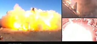 SpaceX-rakett eksploderte