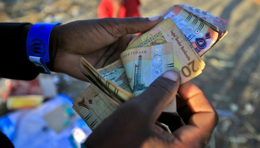 ØKONOMI: Corona-viruset hjelper afrikanske økonomier. Foto: AFP/NTB.
