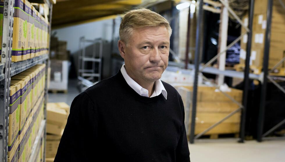 GIR SEG: Idar Vollviks satsing på munndbind og håndsprit ble aldri den suksessen gründeren hadde håpet på. Foto: Odd Mehus / Børsen