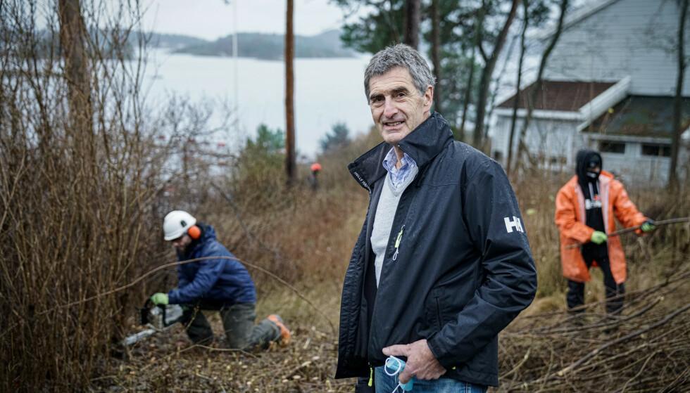 OPPDRAGSGIVER: Andreas Thorsnes er eiendomsutvikler og hyrer på Marita Drift til sine prosjekter. Foto: Øistein Norum Monsen/Dagbladet
