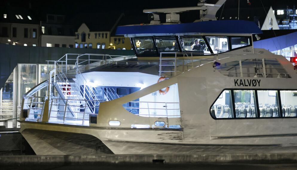 SEILINGSNEKT: Hurtigbåten Kalvy fra Boreal ligger til kai i lesund. Foto: Svein Ove Ekornesvg / NTB