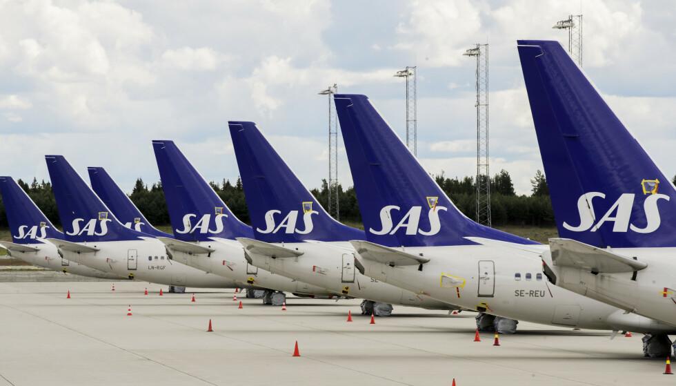 TVANGSMULKT: SAS må punge ut til Luftfartstilsynet fordi kundene ikke har fått igjen penger for innstilte fly. Foto: Vidar Ruud / NTB