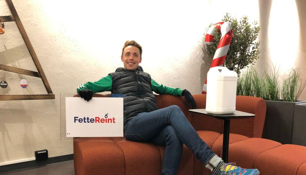 IKKE ET FETT: Da Andreas Eriksen skulle registrere firmaet Fette Reint avslørte Brønnøysundsregistrene at det ikke er ett fett for dem hva folk kaller bedriftene sine. Han fikk avslag. Foto: Privat