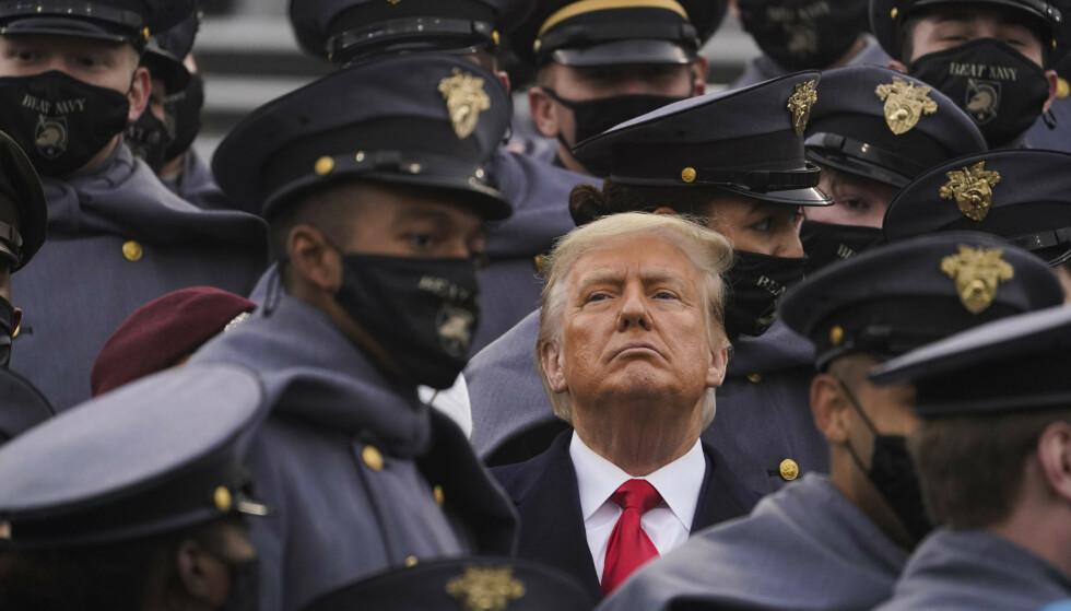 TAUS: USAs president, Donald Trump, har ennå ikke sagt et ord om det massive cyberangrepet, som har rammet landet. Foto: Andrew Harnik / AP / NTB