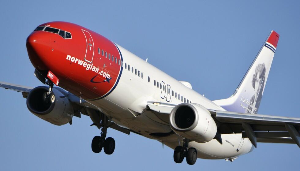ANMELDES: Norwegian er et av flere flyselskap som politianmeldes i Danmark for ikke å ha betalt tilbake kunder for avlyste reiser. Foto: Johan Nilsson / TT / NTB scanpix