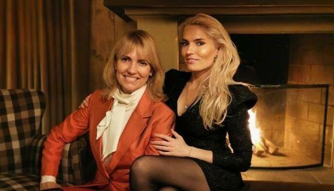 MOR OG DATTER: Denise var tidligere gift med Christian Ringnes. I dag tilbringer eksparet og barna fortsatt jula sammen. Foto: Privat