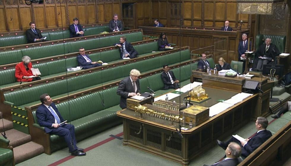Onsdag ber Boris Johnson Parlamentet ratifisere avtalen og «få brexit unnagjort», som har vært statsministerens slagord gjennom prosessen. Arkivfoto: Alberto Pezzali / AP / NTB