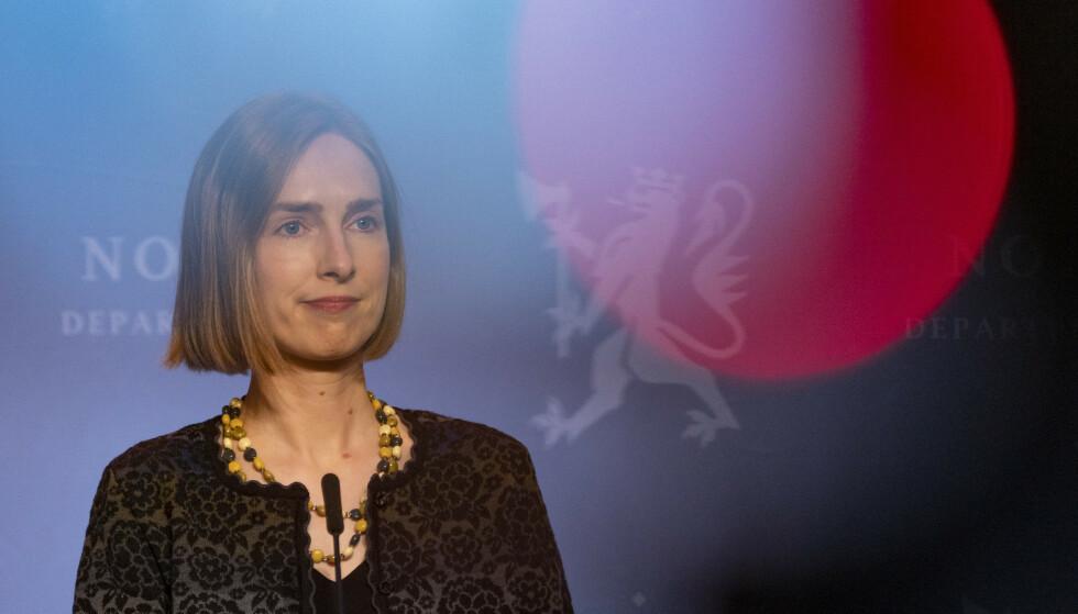 UTVIDET ORDNING: Næringsminister Iselin Nybø utvidet da kompensasjonsordningen onsdag, men det er ikke nok, mener Virke. Foto: Torstein Bøe / NTB