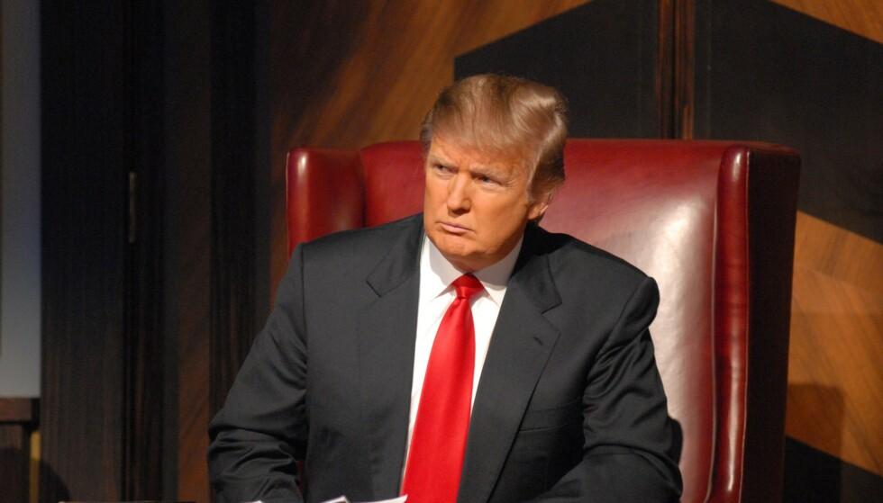 THE APPRENTICE: Donald Trump ledet programmet The Apprentice gjennom flere år. Det får ekspert til å lure på om Trump vender tilbake til TV-skjermen etter 20. januar. Foto: Ali Goldstein / NBC-TV / Kobal / REX / NTB