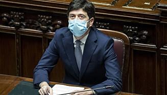 «UTILGIVELIG»: Uenighet om redningsplanen kan velte den italienske regjeringen. Helseminister Robert Speranza (bildet) sier en regjeringskrise nå er utilgivelig. Foto: Roberto Monaldo / LaPresse / AP / NTB