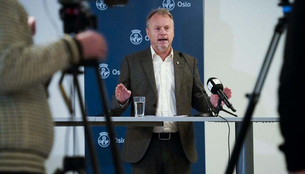 NØDROP: Byrådsleder Raymond Johansen sier at nødropet gjelder fremdeles. Foto: Lise Åserud / NTB