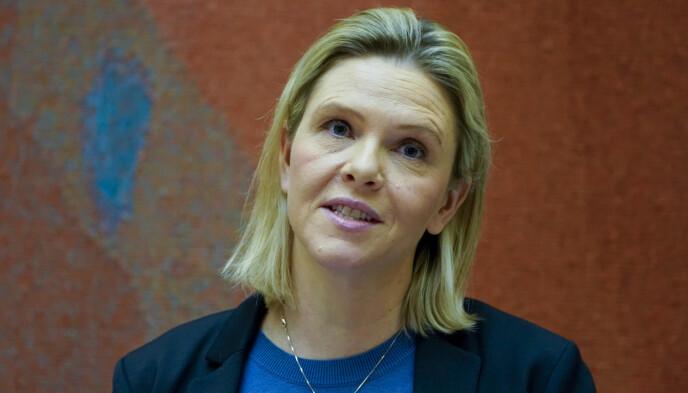IMOT: Sylvi Listhaug sier Fremskrittspartiet aldri kommer til å støtte en CO2-avgift på 2000 kroner. Foto: Håkon Mosvold Larsen / NTB