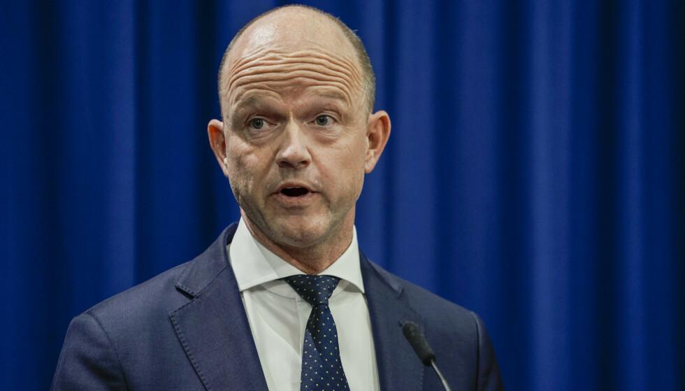 RAMMER HARDT: Administrerende direktør i NHO, Ole Erik Almlid, varsler måneder med usikkerhet. Foto: Stian Lysberg Solum / NTB