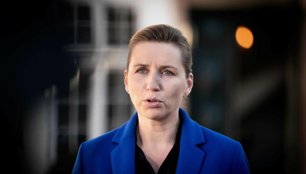 SINT: Statsminister Mette Frederiksen reagerer på at danske unge har dratt til Østerrike. Foto: Liselotte Sabroe / Ritzau Scanpix / NTB