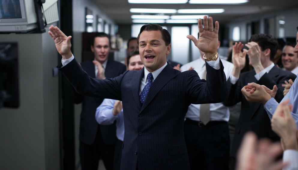 HOLLYWOOD-FILM: Jordan Belforts ville liv som aksjemekler ble portrettert av Leonardo DiCaprio i filmen Wolf Of Wall Street fra 2013. Foto: Mary Cybulski / AP