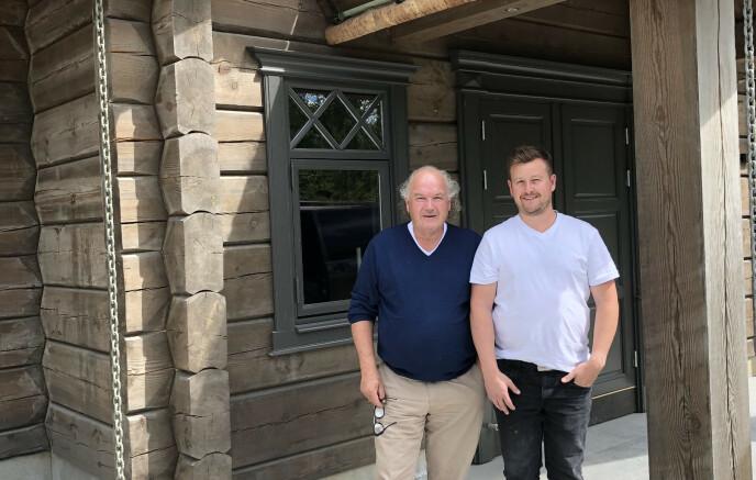 TREDOBLING: Siden hytteutbygger MG Eiendomsutvikling begynte å finansiere hytteprosjektene gjennom Monner Crowd har de tredoblet veksten. – Vi planlegger å fortsette med Monner Crowd, sier eier og daglig leder Stein Martin Gaarder (til høyre).