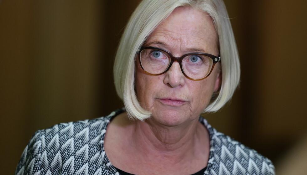 AVVISER STØRE: Marit Arnstad (Sp) sier det er uaktuelt for Senterpartiet å binde Norge til en økning av klimamålene og si fra seg muligheten til å bruke fleksible mekanismer. Foto: Ørn E. Borgen / NTB