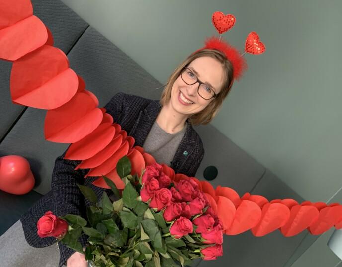 I NY DRAKT: Næringsminister Iselin Nybø (V) slik du neppe er vant til å se henne. Foto: Hanne Steensnæs / Nærings- og fiskeridepartementet