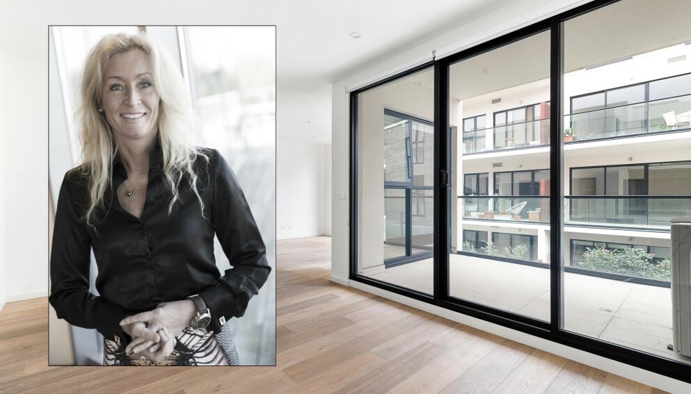 STERK ETTERSPØRSEL: Grethe Meier i Privatmegleren forteller at selskapet fikk gjentatte ønsker om hjelp til mer enn kjøp og salg av boliger. Foto: NTB / PRIVATMEGLEREN
