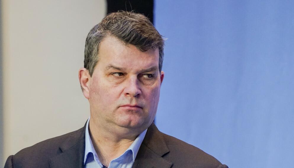 SVAKHETER: LO-leder Hans-Christian Gabrielsen er fornøyd med at lønnsstøtte-ordningen forlenges, men sier det er flere svakheter som må rettes opp. Foto: Hkon Mosvold Larsen / NTB