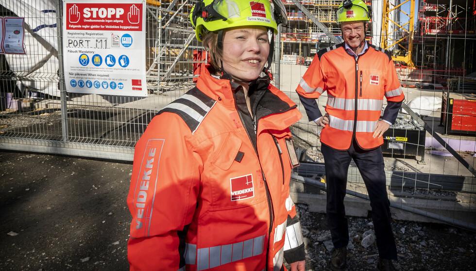 ETTERSPURT: BIM-tekniker Synne Marie Valler i Veidekke er et godt eksempel på den arbeidskraften som nå etterspørres, mener NHO-sjef Ole Erik Almlid. Foto: Hans A. Vedlog / Dagbladet