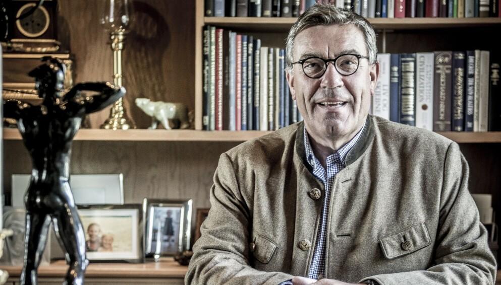 KRITISK: Orkla-eier Stein Erik Hagen har lite til overs for dem som betaler utbytte etter å ha mottatt coronastøtte fra staten. Foto: Thomas Rasmus Skaug / Dagbladet