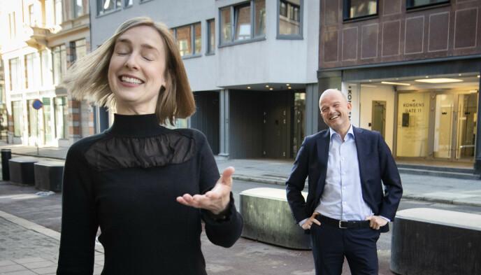 OVERRASKER: Norge ble slaktet i rapport om eksport. Svaret fra næringsminister Iselin Nybø (V) og NHO-sjef Ole Erik Almlid vil kanskje overraske. Foto: Lars Eivind Bones / Dagbladet