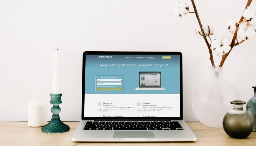GRATIS: Regnskapsprogrammet Centiga startet i september og tror på 25 000 brukere i løpet av 2021.
